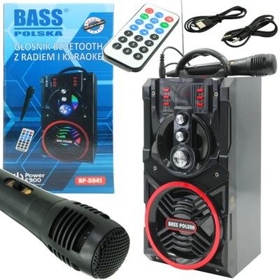 BOOMBOX TUBA RADIO MP3 GŁOŚNIK BLUETOOTH KARAOKE