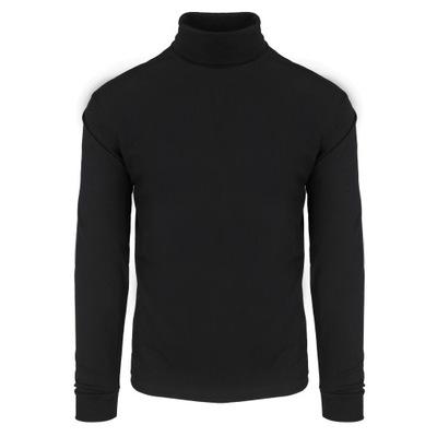 Golf męski 100% bawełna czarny rozmiar L