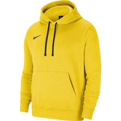 Nike bluza męska z kapturem żółta bawełniana XL