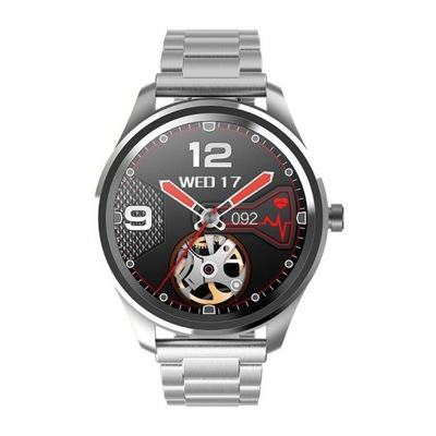 SMARTWATCH Gino Rossi SW012-2 silver/black + pasek