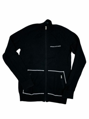 Czarny sweter męski rozpinany ARMANI EXCHANGE M