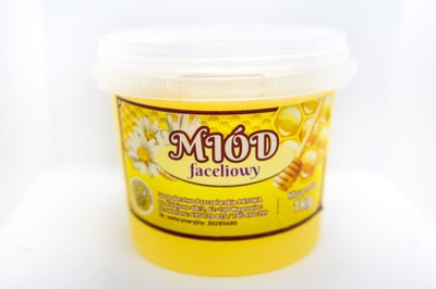 Мед Faceliowy Kremowany свежий мед натуральный 1кг