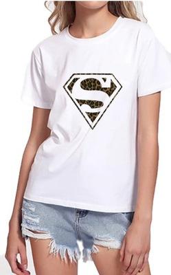 Koszulka damska t-shirt z nadrukiem Supermen L