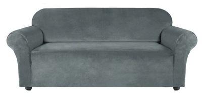 pokrowiec na sofę wersalkę 3 os szary welur velvet