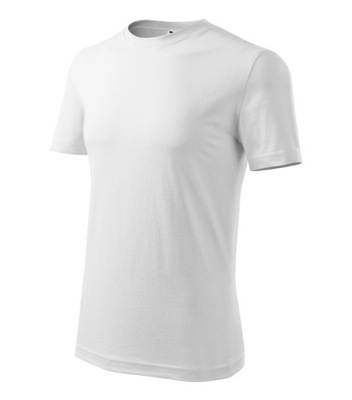 Męska koszulka T-SHIRT bawełna biały 2XL