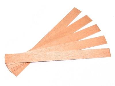 50szt Knot drewniany do wosku sojowego knoty 6cm