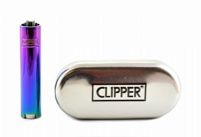 ZAPALNICZKA CLIPPER METAL ICY COLORS 2 *SPECTRUM
