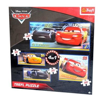 PUZZLE 4w1 CARS AUTA 30 30 60 160
