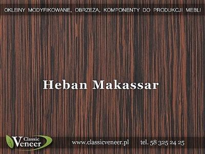 Okleina Modyfikowana Fornir Heban Makassar HEM-X21