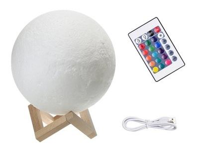 лампа НОЧНАЯ Луна 3D RGB MOON LIGHT С пилот