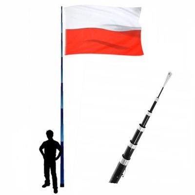 Maszt teleskopowy do flagi,latawca,reklamowy- 7m