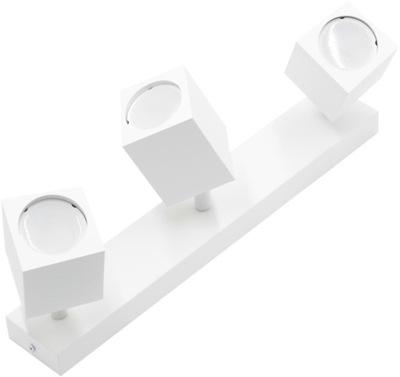 Kinkiet potrójny spot lampa GU10 kwadrat biały