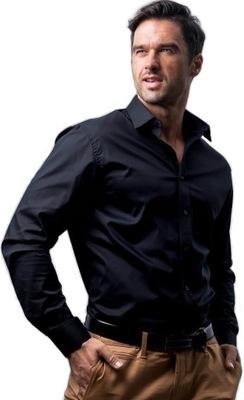 Koszula Męska Desire Slim L bawełna gładka czarna