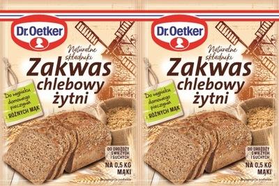 Zakwas chlebowy żytni w proszku 2x 15 g Dr. Oetker
