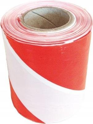 лента предупреждения белый красная 100 ? 75мм ш