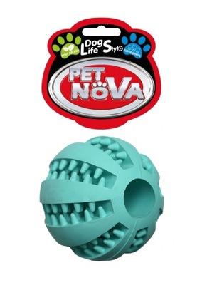 ПЭТ Nova игрушка мяч с МЯТОЙ очищает зубы 5cm.