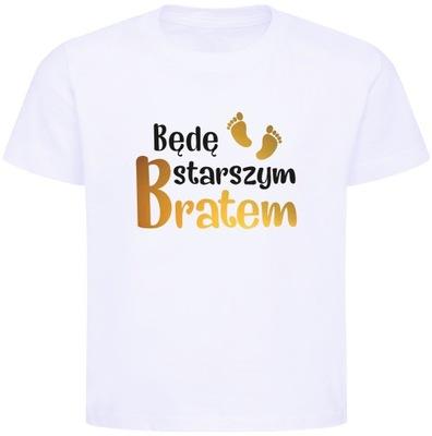 Koszulka, T-shirt Będę starszym bratem r. 110