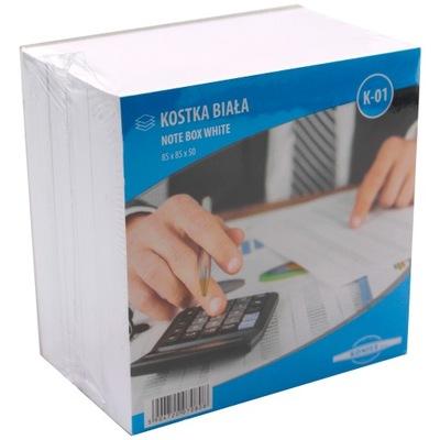Notes karteczki kostka papierowa biała 85x85x50
