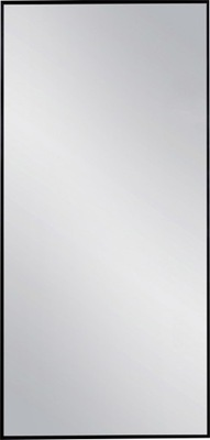 зеркало В Черной Алюминиевой Плечо 140x80