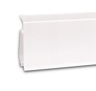 Планка напольного типа Белый  ???  7 см EVO белая