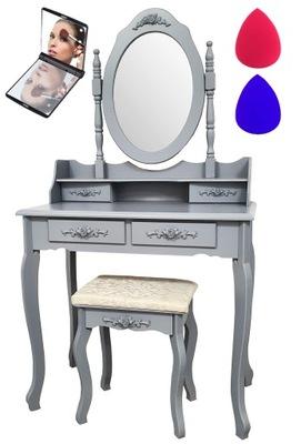 ТУАЛЕТНЫЙ столик и КОСМЕТИЧЕСКОЕ Табурет + ЗЕРКАЛО LED +ГУБКИ