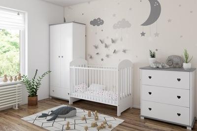 Meble niemowlęce SISI 3el , kolor biało szary