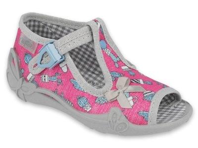 Befado pantofle kapcie dziecięce sandały 213128 24