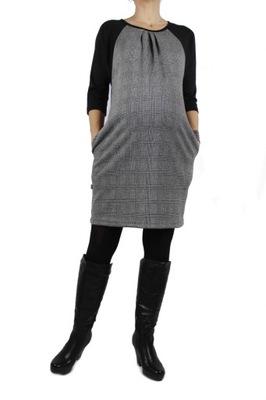 NOWOŚĆ ŚLICZNE sukienki ciążowe M-XL L szary