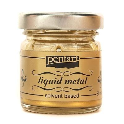 Płynny metal ciekły 30 ml Złoty Ant. Pentart Farba