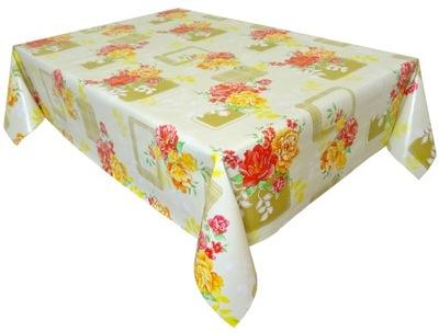клеенка стол СКАТЕРТЬ ceratowy желтые цветы