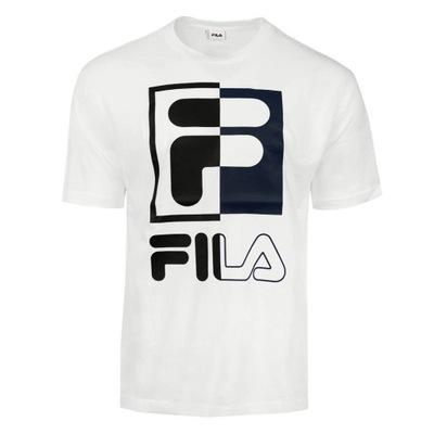 FILA Koszulka Męska SAKU T-shirt BIAŁA M