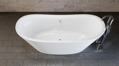 Samostatne stojaca akrylátová vaňa biela, model WG2551