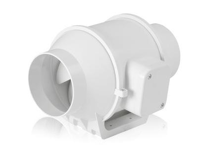Trubice axiálny ventilátor plastové, 125 mm 218m3/h KĽUDNEJ