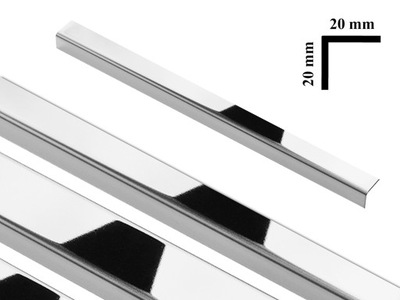 УГОЛЬНИК Угол металлический Л серебро блеск 2x2