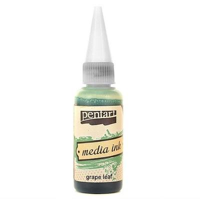 Tusz Media Ink - Pentart - liść winogronowy, 20 ml