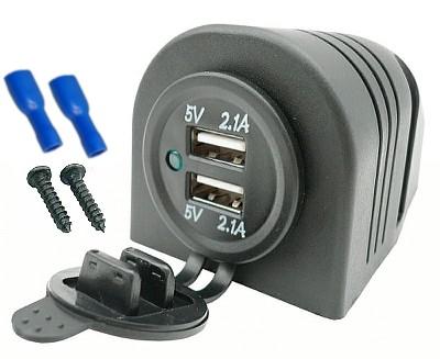 DISPOSITIVO DE CARGA USB 5V 4,2A RANURA HERMÉTICOS 12V 24V