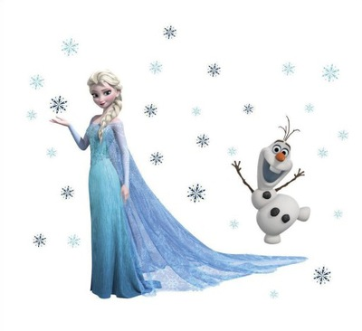 Samolepky na stenu Frozen Elsa Olaf