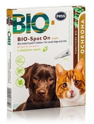 PESS BIO-SPOT krople małe psy koty KLESZCZE PCHŁY