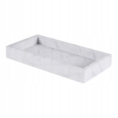Taca marmurowa Bianco Carrara kamienna 15x30cm