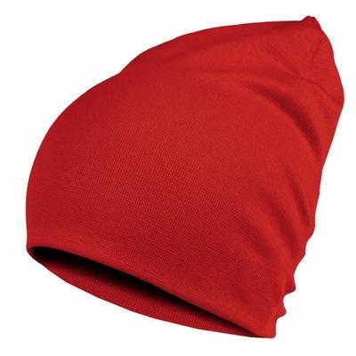Czapka Dziecięca Dwuwarstwowa Bawełna XL Czerwona
