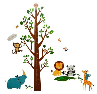 наклейки__ на_ стену мерка Рост Дерево животные
