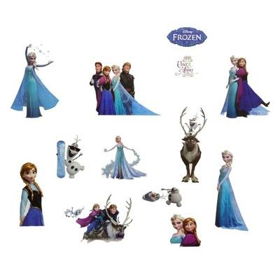 Samolepky na stenu Frozen Elsa Anna