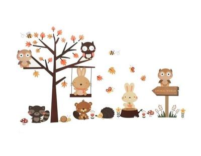 Nálepky na stenu strom zajačej sovy