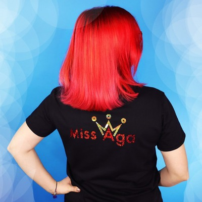 Koszulka T-shirt MISS AGA Czarny 140