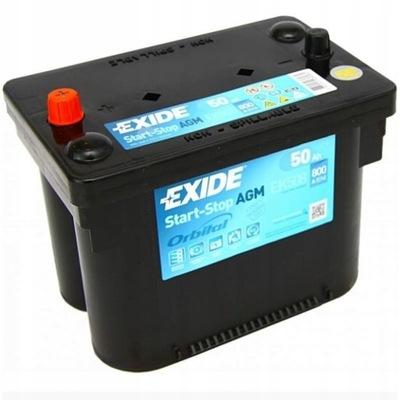 EXIDE START СТОП AGM EK508 50AH 800A L+