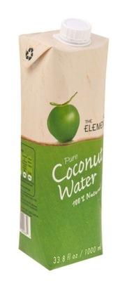 [КС] 12 х 100 % натуральная вода кокосовая , 1л элемент