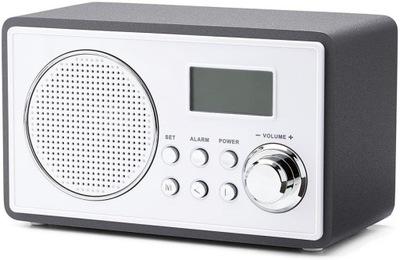 TCHIBO BIAŁE ELEGANCKIE RADIO W STYLU RETRO AUX