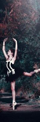 60cm 180cm samolepka na stenu Digitálna potlač Ballerina