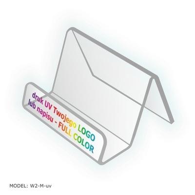 Wizytownik z Plexi + druk UV swojego LOGO Podajnik