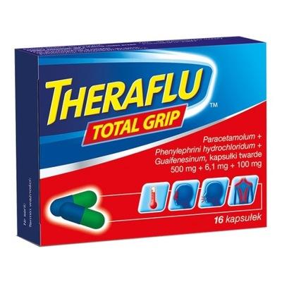 Theraflu Total Grip 16kaps. przeziębienie grypa